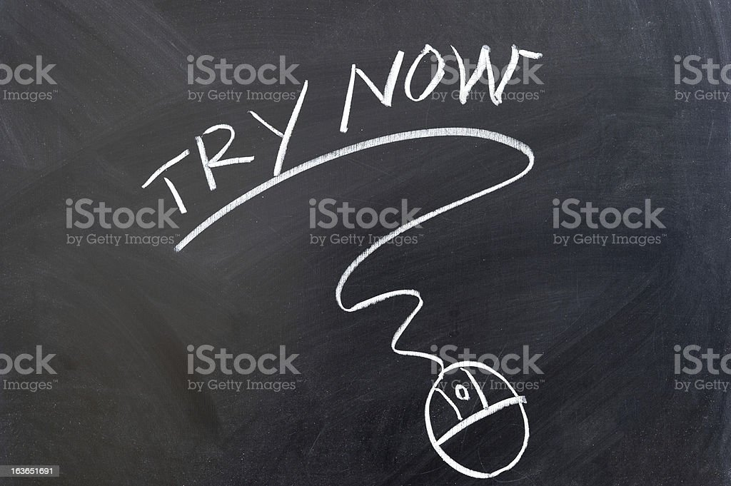 Try now stock photo