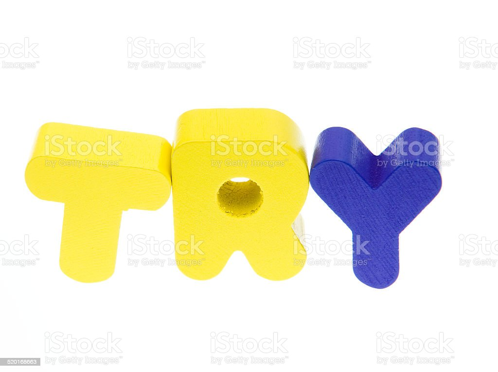 try stock photo