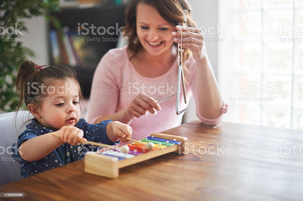 Try to develop hobbies of your child stock photo