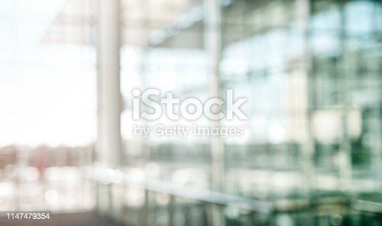 Defocused shot of an empty building