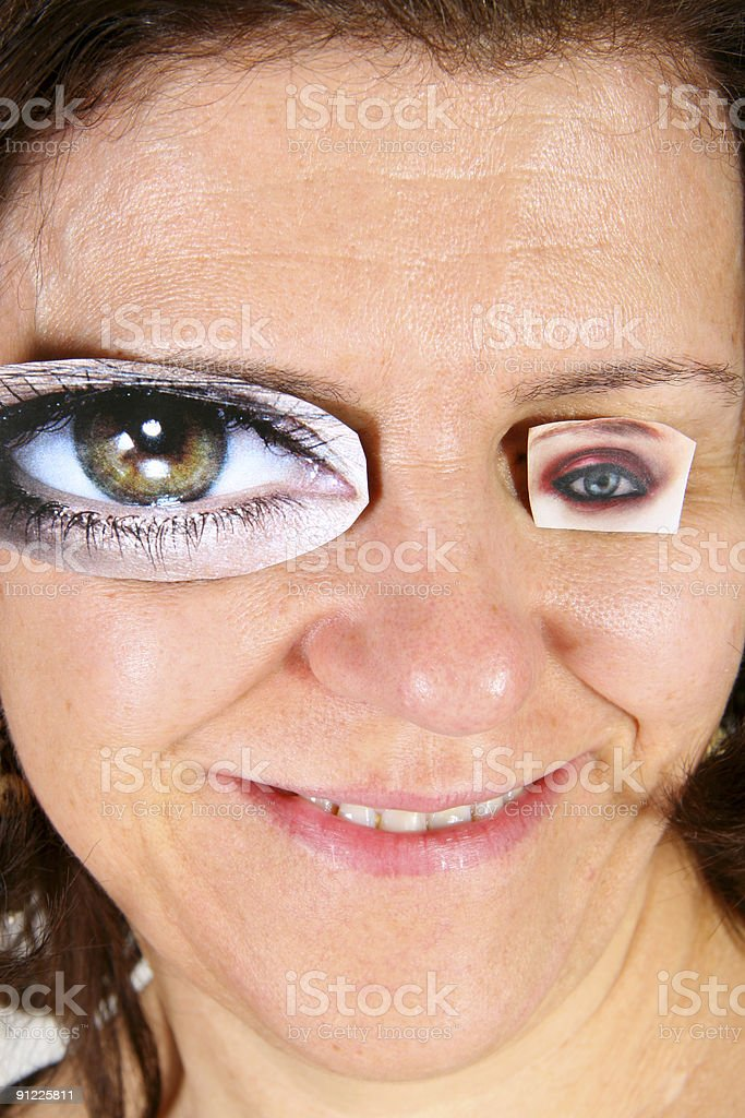 trying on eyes royalty-free stock photo