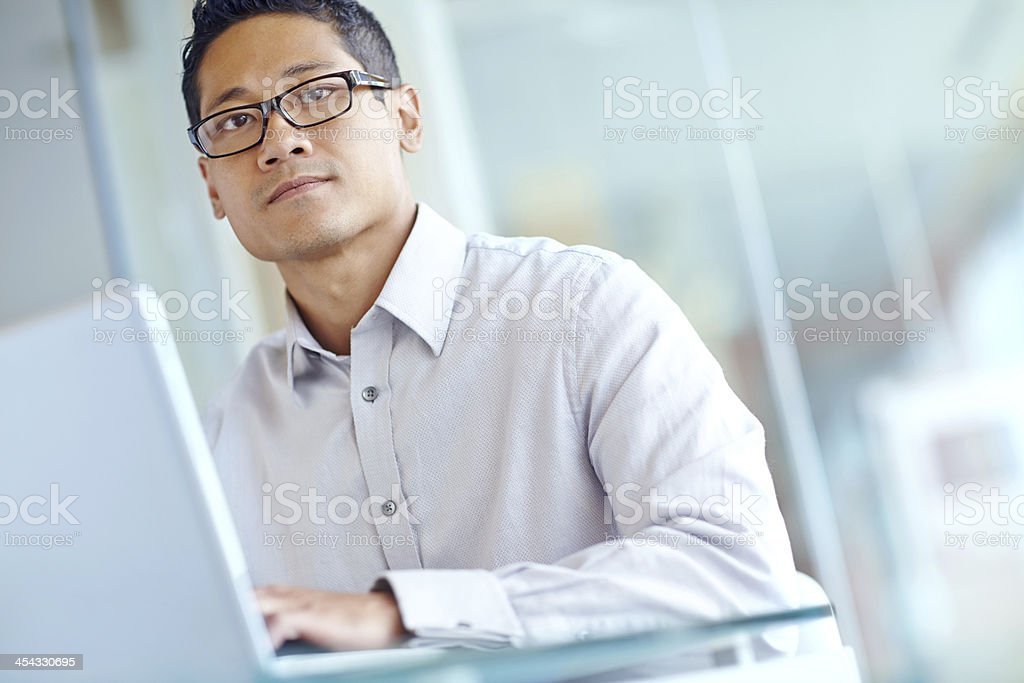 Trying think up business solutions stock photo