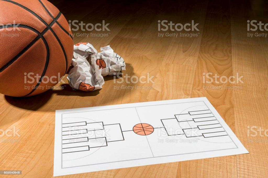 College Basketball Turnier Klammer Auf Dem Papier Ausfüllen Möchten ...