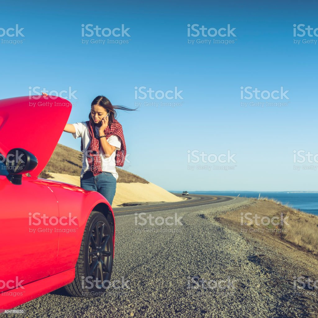 Trying to fix the car stock photo