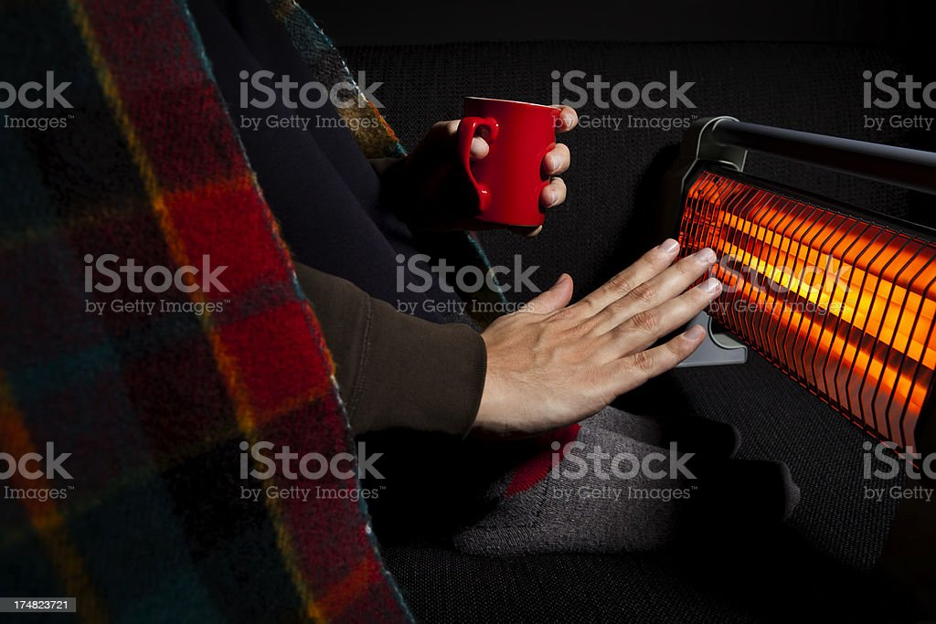 trying to get warm stock photo