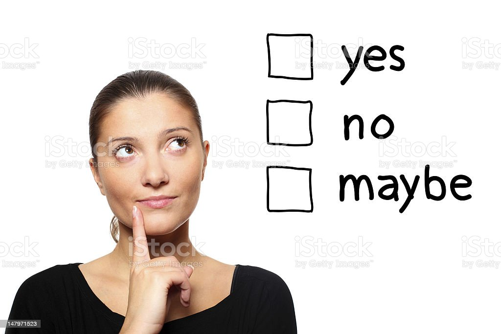 Trying to make a decision royalty-free stock photo