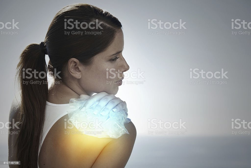 Trying to stop the swelling stock photo