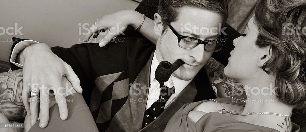 Tryst stock photo