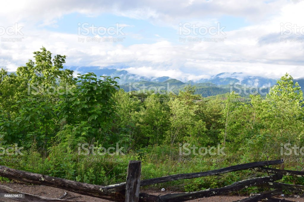 Tsali view of the Great Smoky Mountains stock photo