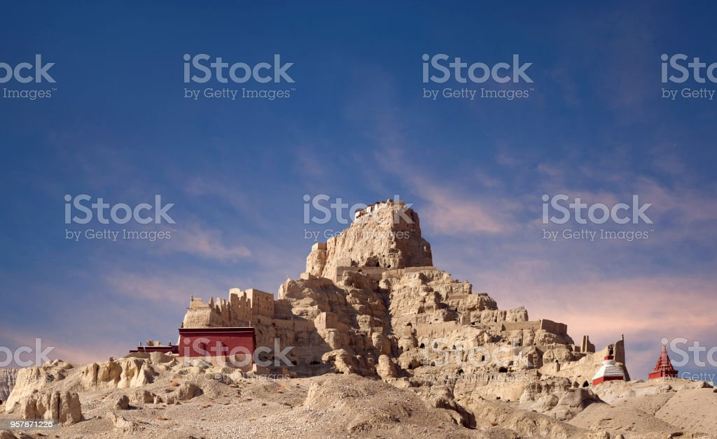 Tsaparang, ancient capital of Guge Kingdom, Tibet stock photo