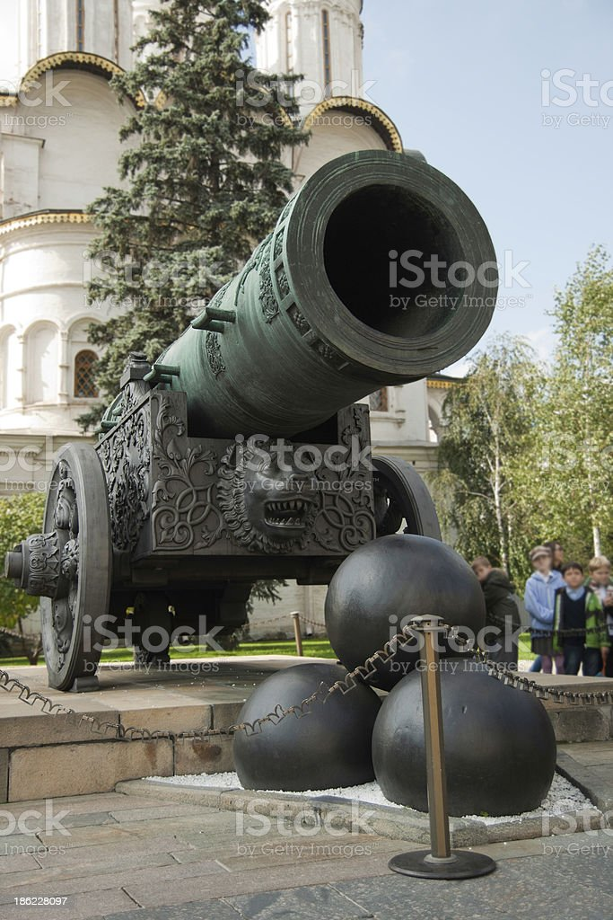 Tsar Cannon at the Kremlin in Moscow stock photo