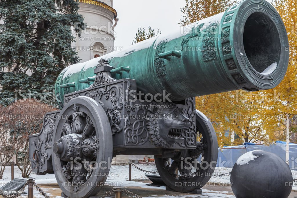 Tsar Cannon in Moscow Kremlin, Russia stock photo