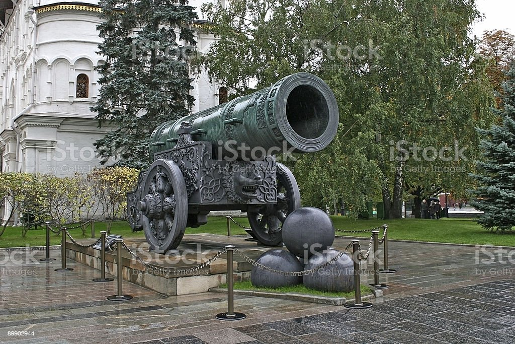 Tsar-cannon in the Moscow Kremlin. royalty-free stock photo
