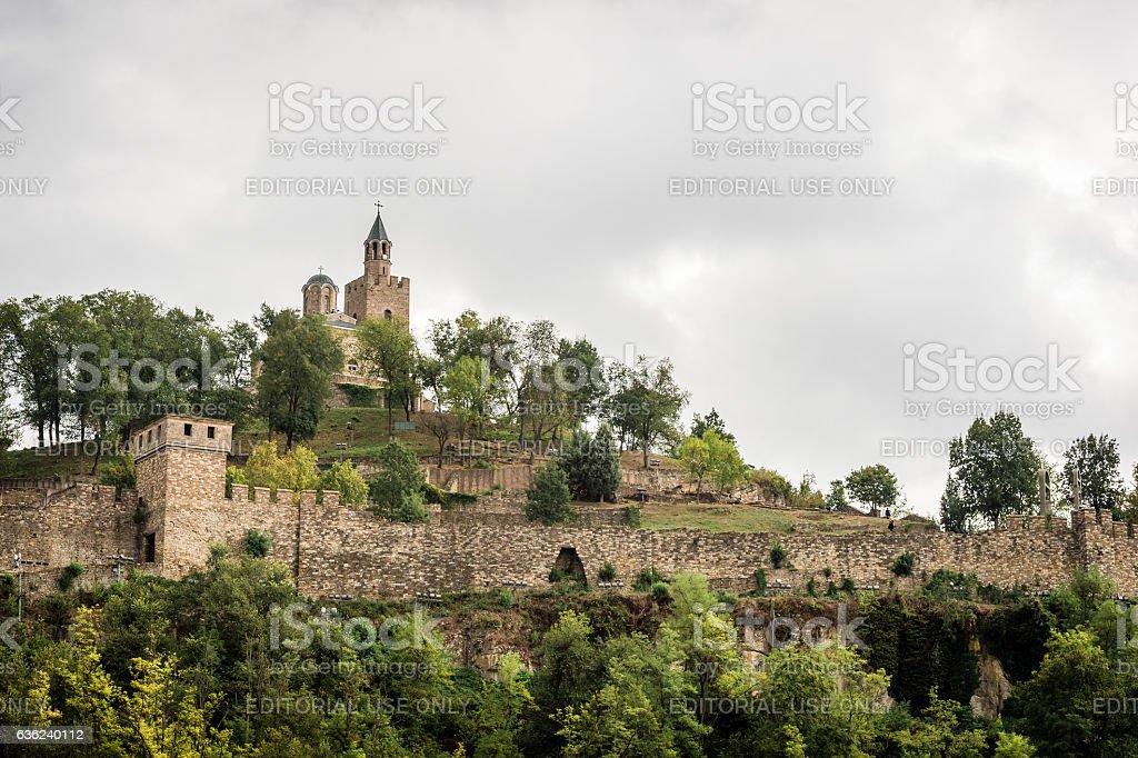 Tsarevets Fortress in Veliko Turnovo, Bulgaria. stock photo
