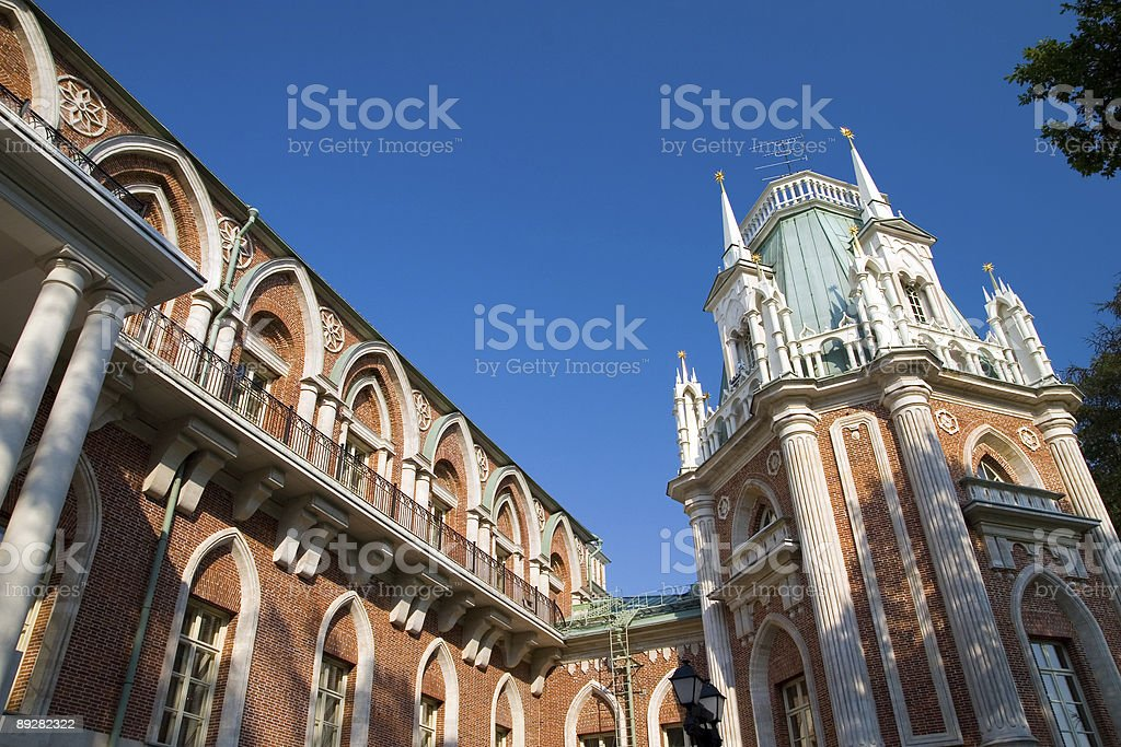 Tsaritsyno Grand Palace royalty-free stock photo