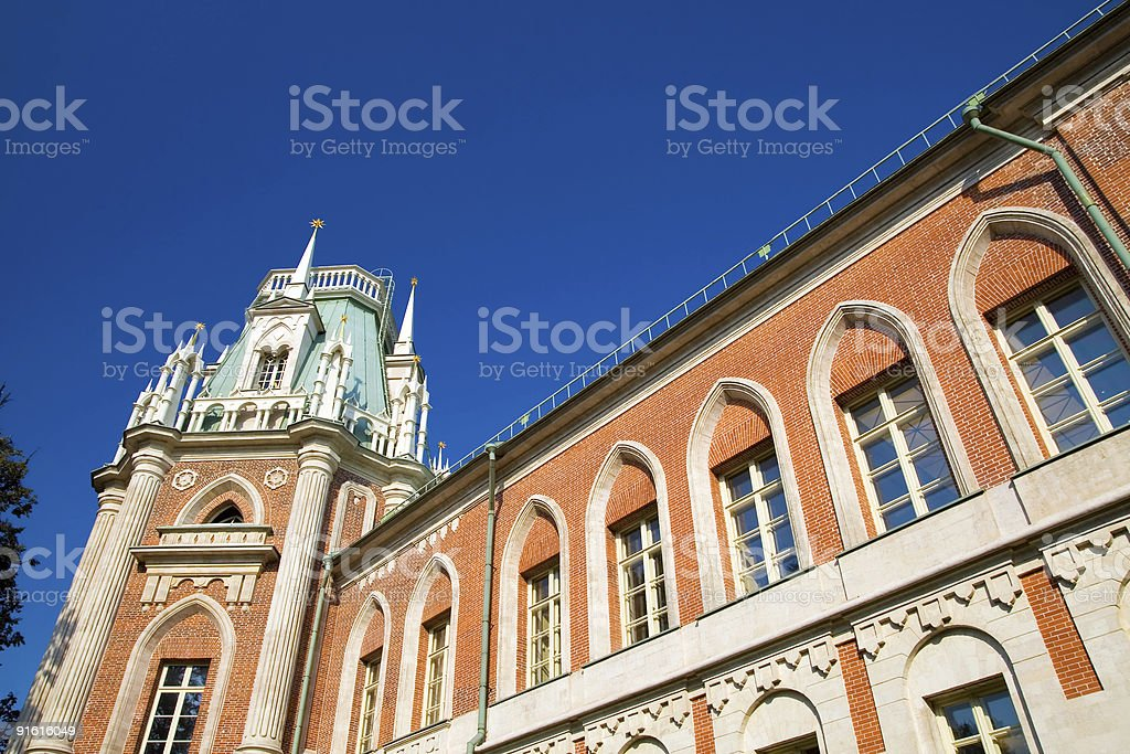 Tsaritsyno Grand Palace royalty-free stock photo