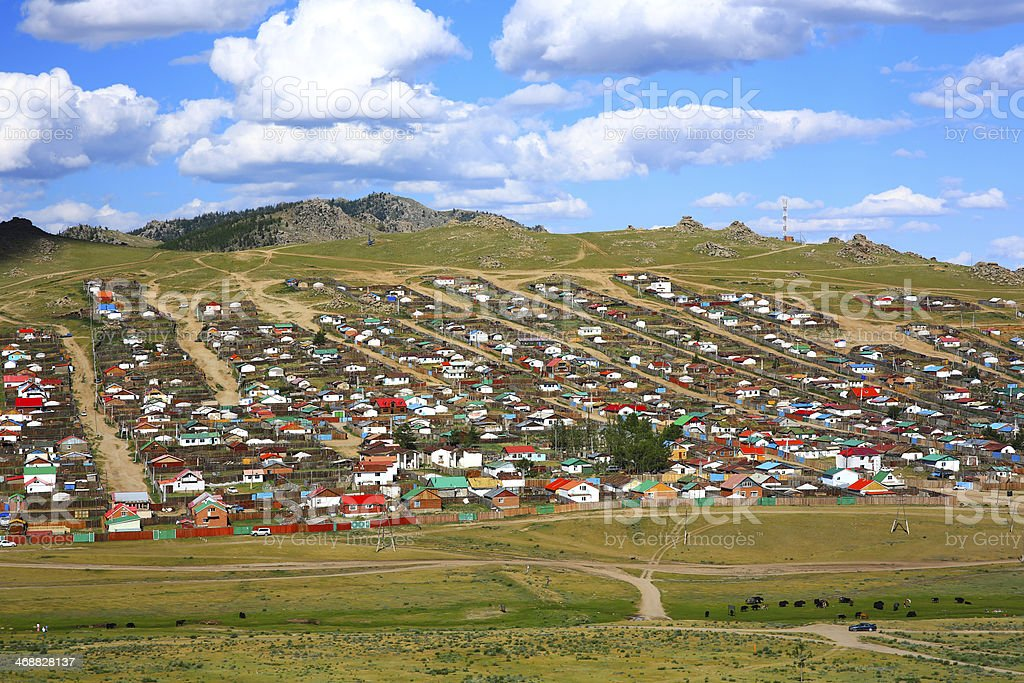 Tsetserleg City, Mongolia royalty-free stock photo