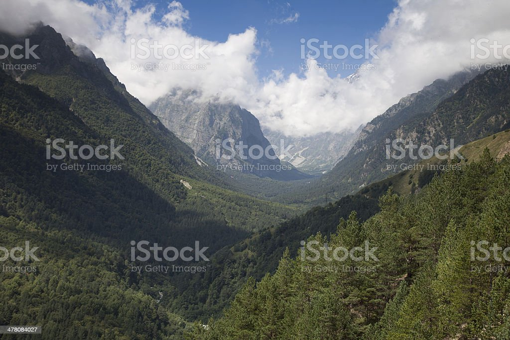 Tsey, North Ossetia royalty-free stock photo