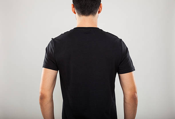 T-shirt back stock photo