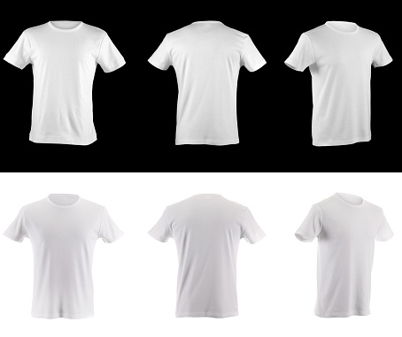 t-shirt collection front side and back