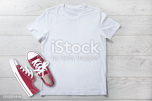 T-shirt design fashion concept, closeup of woman, man and boy in blank white t-shirt, shirt front isolated. Mock up for sublimation.