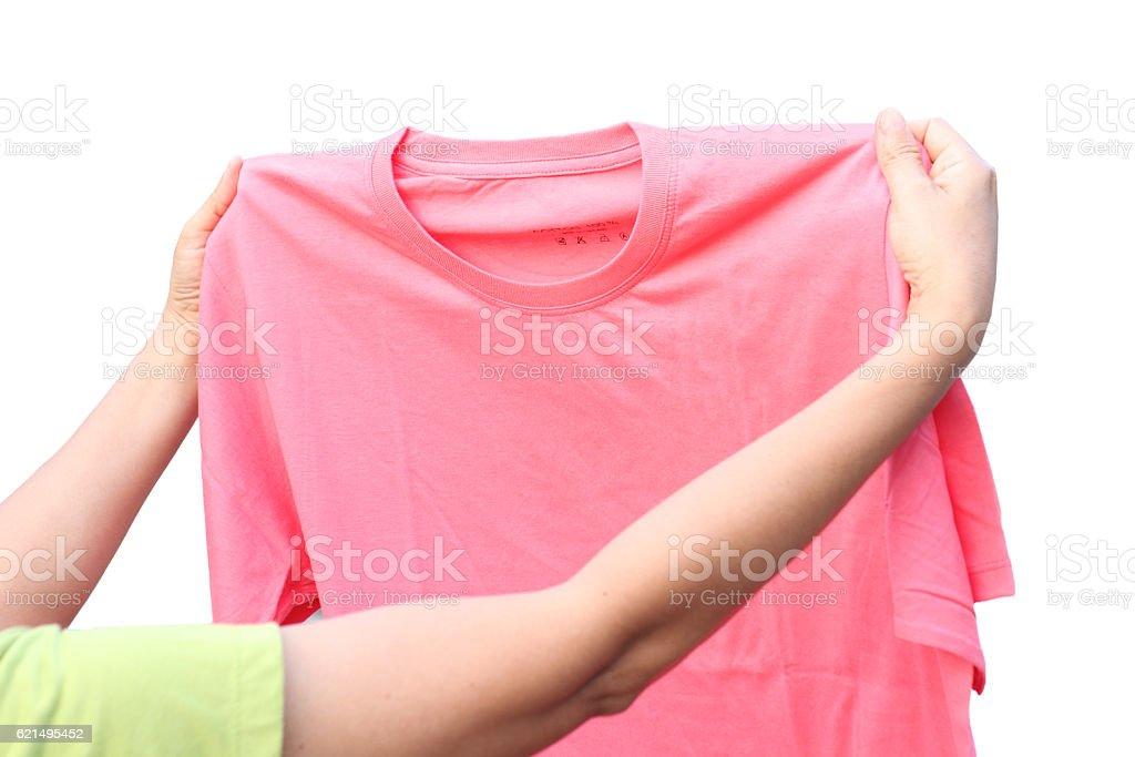 t-shirt isolé sur fond blanc. photo libre de droits