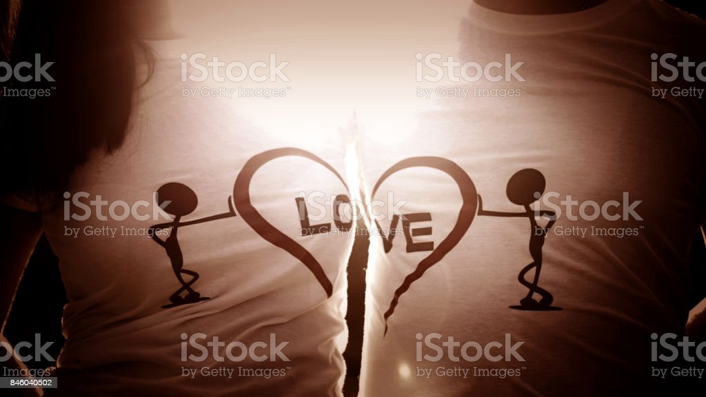 T-shirt of Love stock photo