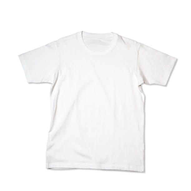 t-shirt - white tshirt stock photos and pictures