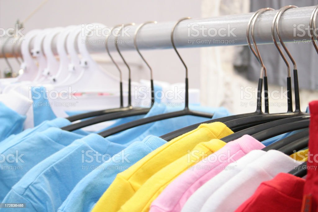 Tshirt rack royalty-free stock photo