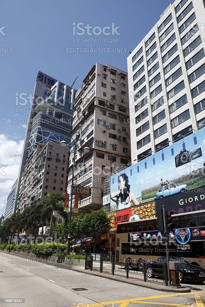 Tsim Sha Tsui in Hong Kong royalty-free stock photo