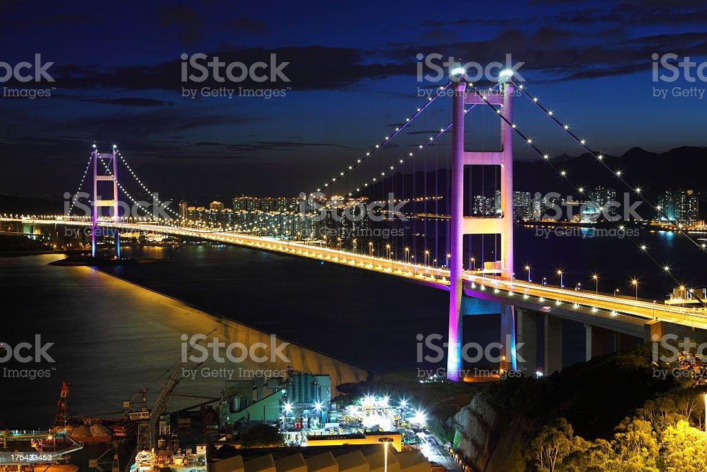 Tsing Ma Bridge stock photo