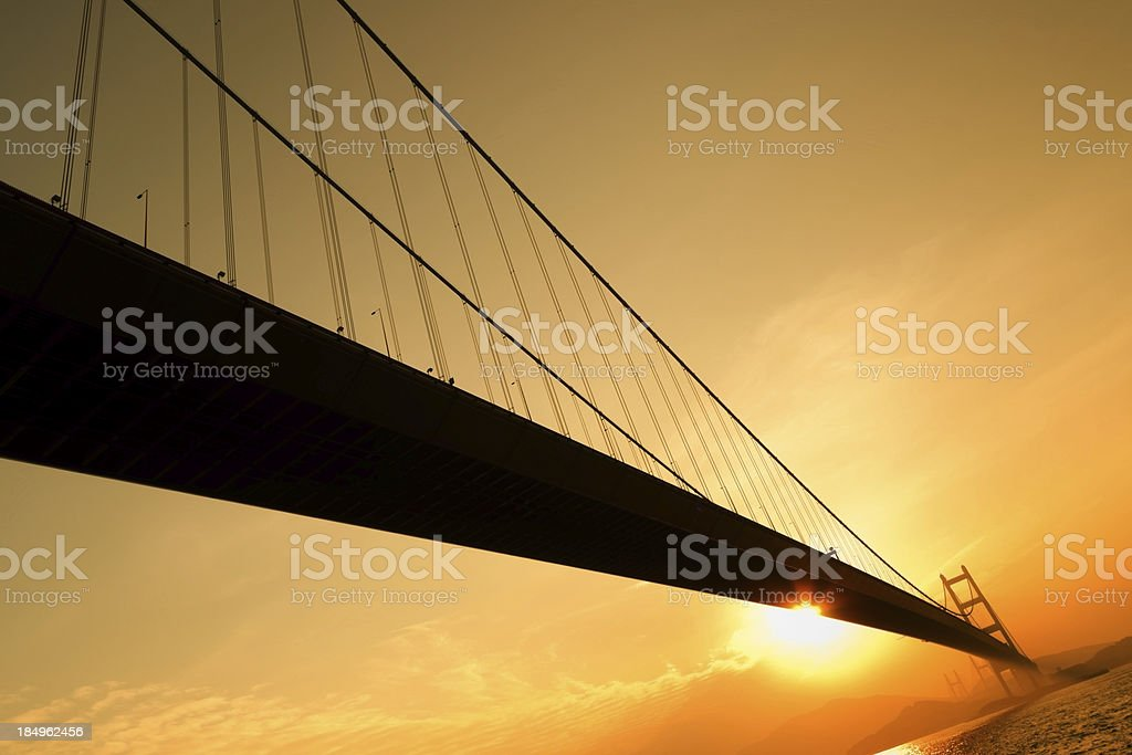 Tsing Ma Bridge royalty-free stock photo