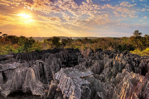 Tsingy sunset stock photo