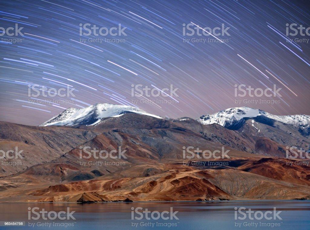 Tso Moriri lake in Ladakh, North India stock photo