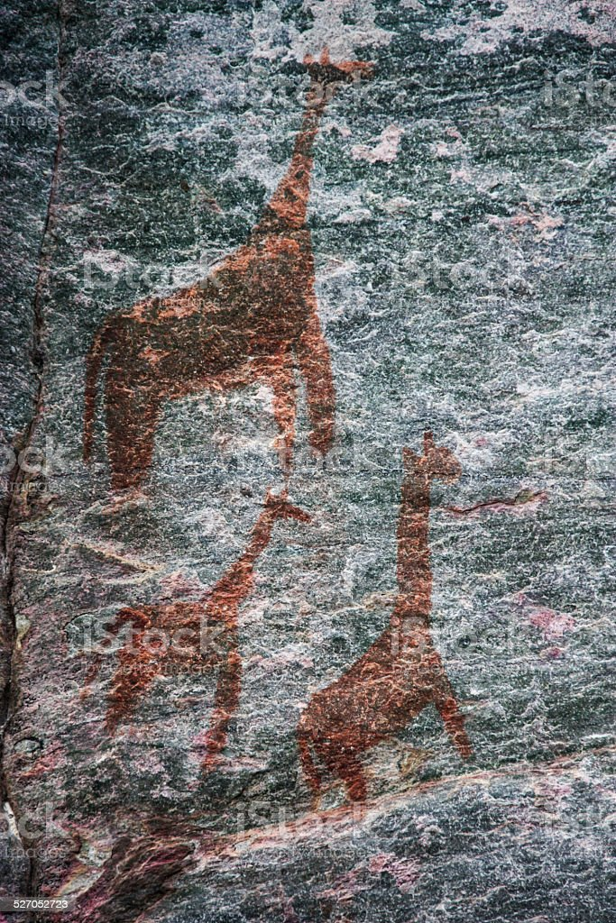 Tsodilo Rock Painting stock photo
