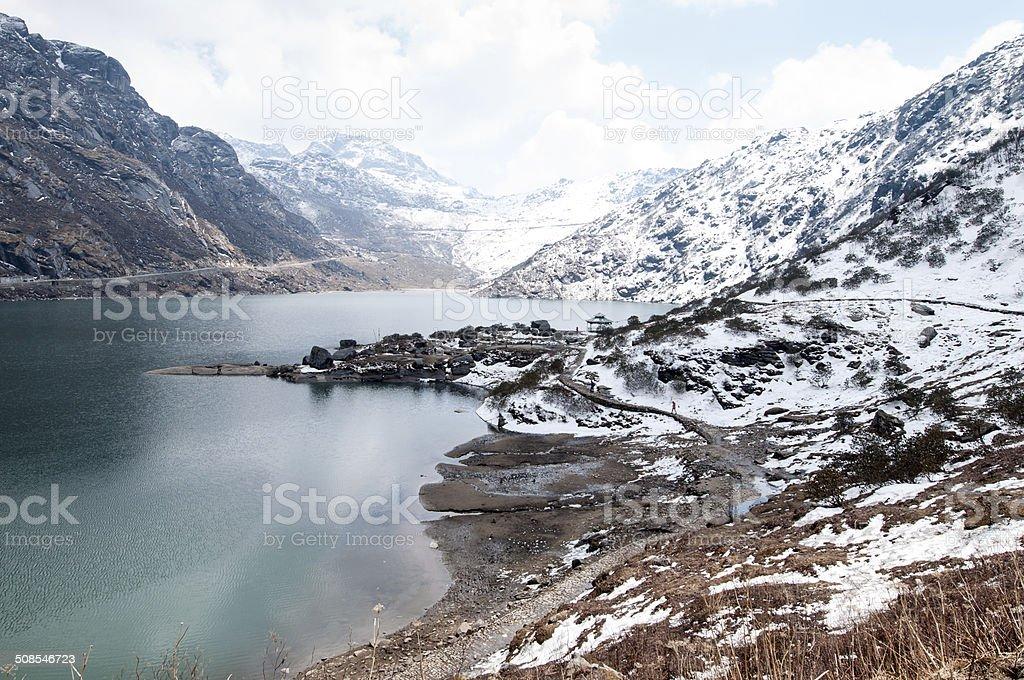 Tsomgo (Changu) Lake stock photo