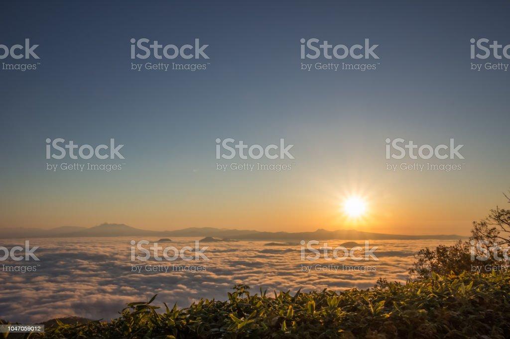 早朝の津別峠 ストックフォト