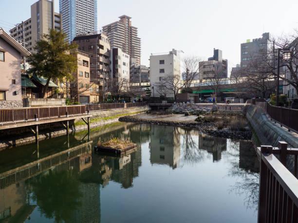 Tsukudajima, Japan Tokyo stock photo