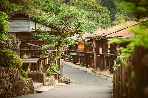 Tsumago einen traditionellen japanischen Dorf in den Bergen – Foto