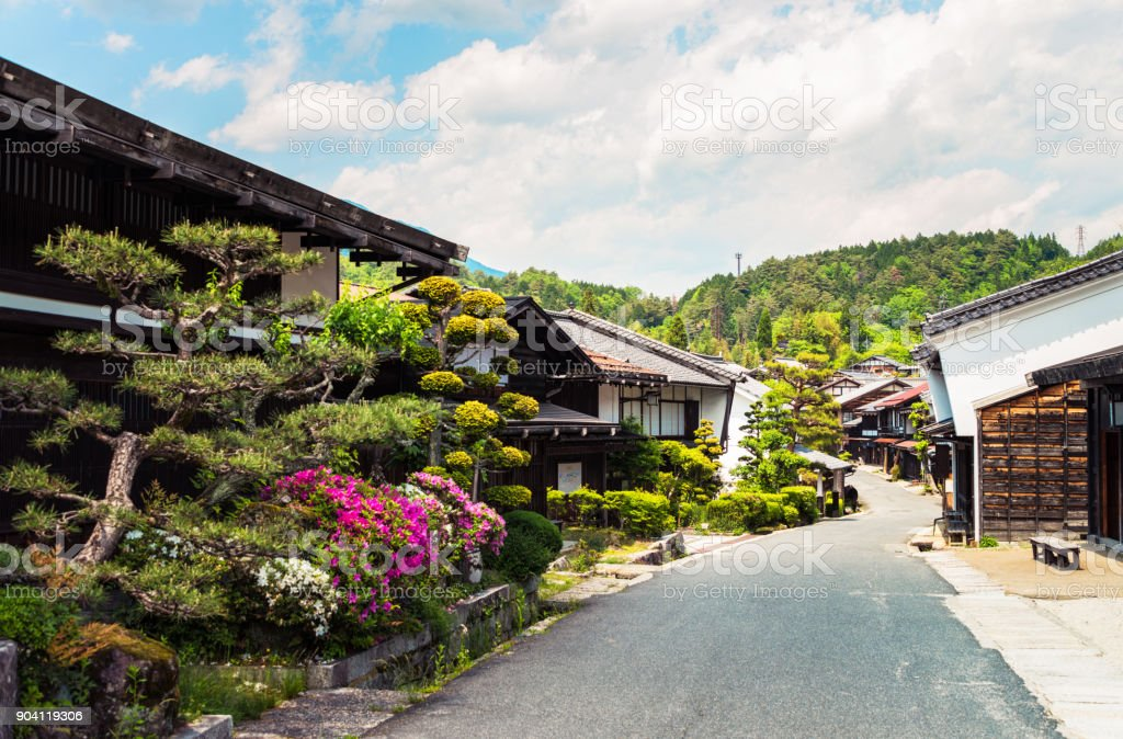 Tsumago - an ancient heritage town in Japan stock photo