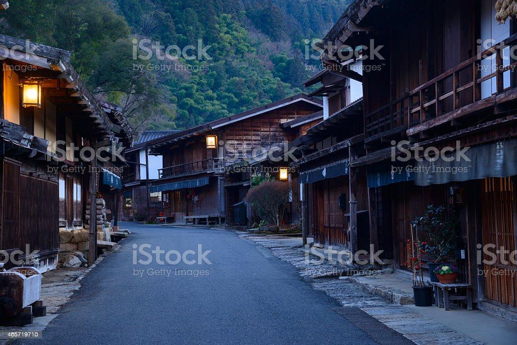 Tsumago-juku in Kiso, Nagano, Japan stock photo