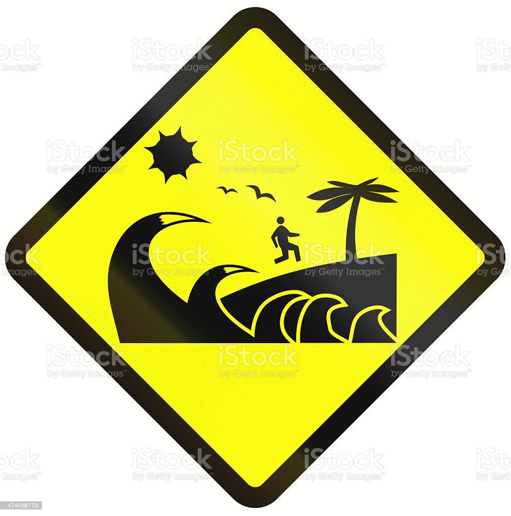 Tsunami Danger Zone In Indonesia stock photo