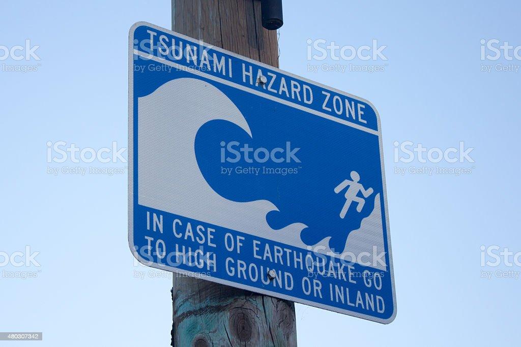 Maremoto peligro Zone, Monterey, CA, EUA - foto de stock