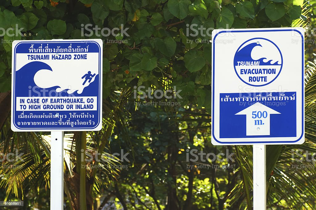 Tsunami Warning Signs Stock Photo & More Pictures of 2004 - iStock