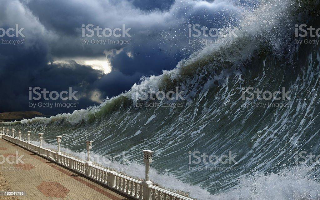 Maremoto Olas - foto de stock