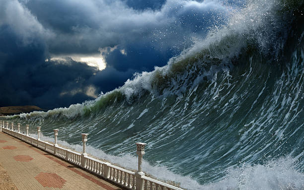 tsunami waves - wave stock photos and pictures