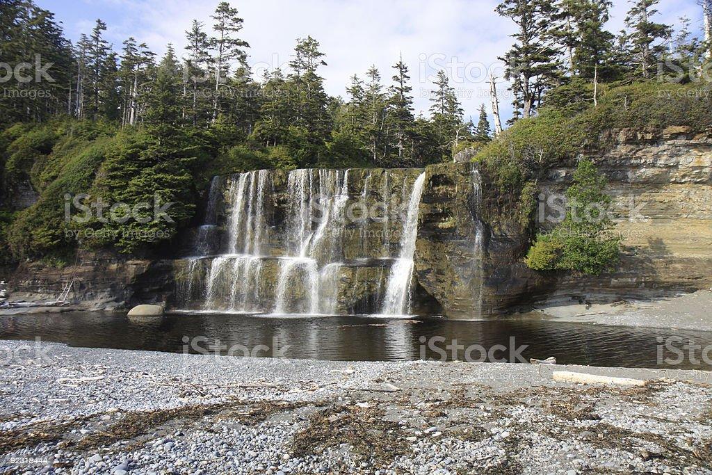 Tsusiat Falls stock photo