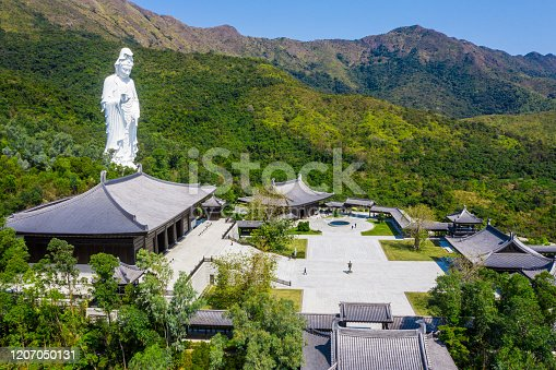 Tsz Shan Monastery.It is a Chinese Buddhist monastery in Tung Tsz.Much of the monastery building funds were donated by local business magnate Li Ka-shing.Guanyin in Hong Kong
