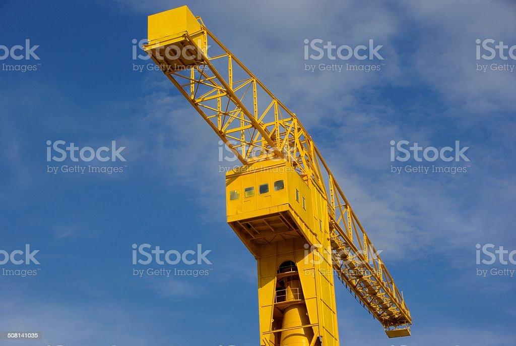 Tête de la grue titan stock photo