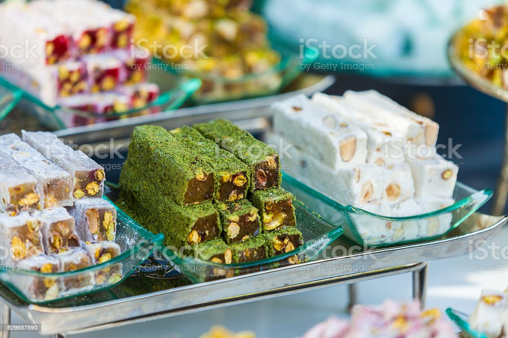 Ttraditional Turkish Delight stock photo